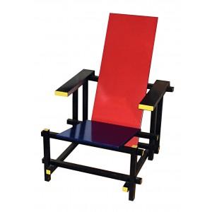 Prototype de la chaise rouge et bleue de gerrit rietveld for Chaise rouge et bleue